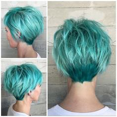 мятные цветные волосы, бирюзовые волосы