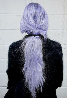 Лиловые волосы, цветные волосы, lilac hair